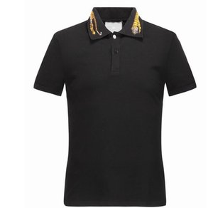 Primavera de lujo Italia Camiseta Camiseta Diseñador Polos High Street Bordado Liga Serpientes Little Bee Impresión Ropa Hombre Marca Polo