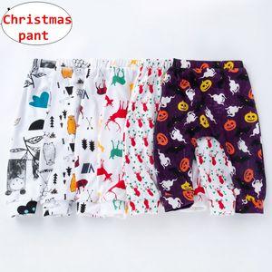 Noël Halloween enfants pantalons bébé unisexe Cartoon cerf imprimé leggings citrouille bébé automne hiver nouvel an pantalons