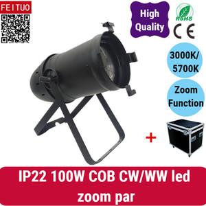 HOT SELL 6light + case Remplace les lampes traditionnelles 1000W Par IP22 / IP54 100W COB CW / WW led zoom par