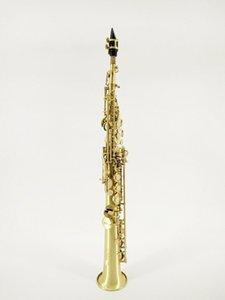 스즈키 B (B) 브래스 경감 Soprano Saxophone Unique Brushed 골드 서라운드 악기 악세서리 진주 버튼 부속 무료 배송
