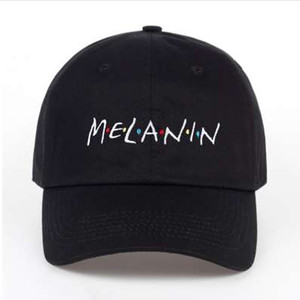 new arrival MELANIN letter embroidery baseball cap women snapback hat adjustable men fashion Dad hats wholesale