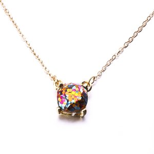 14 Style Option Galaxy Glitter Collier Rain Bow Opal Collier Ras Du Cou Or Couleur Bijoux Pour Femmes