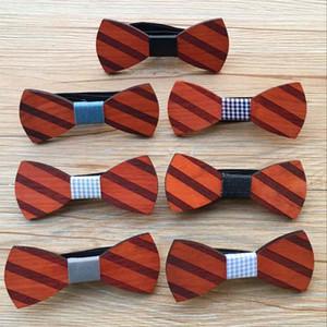 Ahşap papyon Öz Tie Boyfriend Baba Kardeş için Damat Sağdıç Hediyesi için düğün Örgün Suit Bow Tie Mens