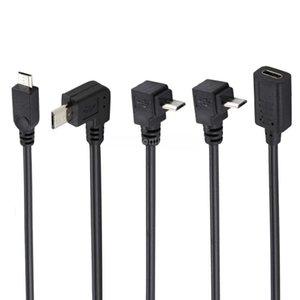 Tipo C femmina a Micro USB maschio Adattatore Extender Cavo di ricarica del connettore del convertitore di dati dritto verso il basso in basso a sinistra Dati di ricarica 30 cm