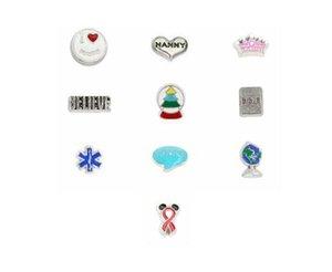 Opción múltiple 20 Unids / lote Globe Crown Ribbon OMG Creer DIY Encantos Locket Flotante Fit Para Memoria Magnética Locket Colgante Joyas de Moda