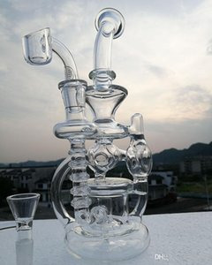New glass bong water pipes oil rig with quartz banger oil burner Shaped like angel wings glass bong glass bubbler 14.4mm joint