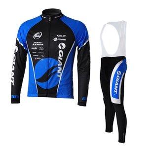 GIANT команда Велоспорт с длинными рукавами трикотажные комбинезоны с нагрудниками брюки Новые Мужская одежда Одежда езда на велосипеде Ropa Ciclismo бесплатная доставка U41007