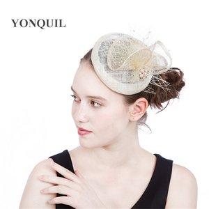 2017 Nuovo taglio di capelli in cappelli di fascinator veli di base clip decorazione dei capelli delle donne popolare per le vacanze di nozze derby cappelli chiesa copricapo SYF200