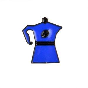Cartoon Coffee Serie Brosche Emaille Pin Button Rucksack Jeansjacke Jeans Kragen Revers Pin Metall Abzeichen Schmuck Geschenk