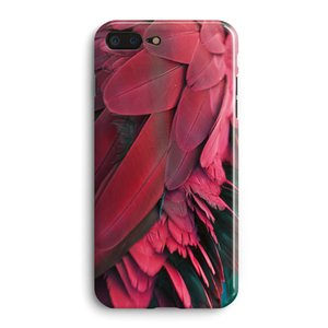 Red Feather Phone Case For Apple Iphone X 6S Mobile Soft Back Shell 8plus Cold Wind Type Protective Cover