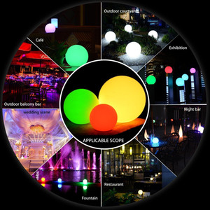 7 cores RGB LED flutuante Magic Ball Led iluminado Lâmpadas Piscina Bola de luz IP68 Mobiliário Outdoor Mesa de Bar com remoto