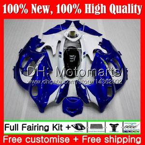 Corpo para Suzuki Katana Blue Branco GSXF 600 750 GSXF600 98 99 00 01 02 21mt4 GSX600F GSXF750 1998 1999 2000 2002 2002 Fairing Bodywork Top