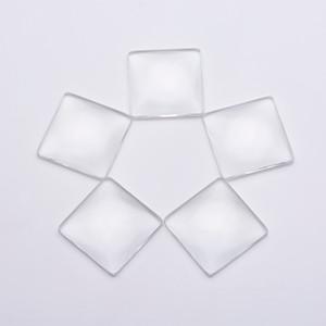 200 PCS 25 MM / 1 Polegada Quadrada Plana de Volta limpar Cabochon De Vidro De Cristal Para DIY Pingente Em Branco