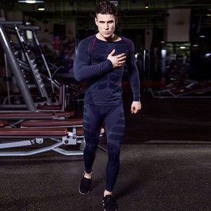 Мужчины сухого подходящего сжатия трексуита фитнес жесткий ходовой набор футболки набор футболок, набор футболок, набор мужской спортивной одежды Демикс черный спортивный костюм