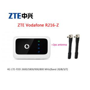 Desbloqueado roteador Vodafone ZTE R216 R216-z bolso Wifi (além de um par de antena) roteador 4G LTE ZTE R216