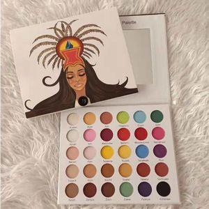 Marka 30 Renkler Son Derece Preslenmiş Pigment Göz Farı Paleti: Doğal Aşk Mat Kyshadow ve Pinky Gül 30 Renkler GLF Princesa Azteca Paleti