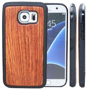 Freies DHL-niedriger Preis-fester Holz-Kasten für Samsung-Galaxie S9 S8 plus S7 Rand S6 Stilvoller hölzerner Bambus TPU Telefon-Abdeckung für iphone X 7 8 6 Plus 5