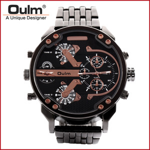 Man Wristwatch China Manufacturer Oulm  Quartz Watches Men Watch Men Big Dial Analog Dial Display New with tags HT3548