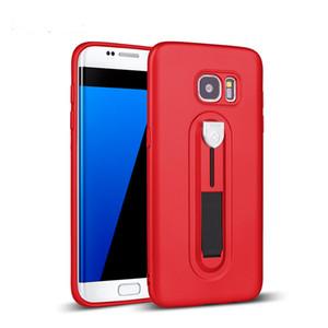 Casos Ultrathin TPU Choque-àpropria Stealth Bracket Telefone para Samsung Galaxy Note8 S7 S7Dedge Pintura De Couro Mão Sentimento Soft Shell