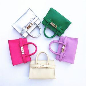9 Colores ¡Nueva llegada! Bolsos de cuero de moda para niños Totes nuevos para niños Niños Mini Purse Ponenchol Muchachas Bolsa de hombro Bolsa de bandas CM017
