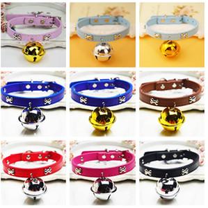 Collari per cani Guinzagli per animali Prodotti in pelle Collari per cani Cintura Collari per animali domestici Super Bell Collar Dog Cat a829