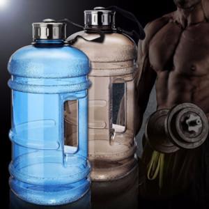 Gran capacidad de 2 litros botellas de agua de los deportes al aire libre Gimnasio medio galón entrenamiento de la aptitud camping Running Entrenamiento botella de agua Preferido 2019