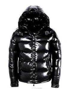 Дизайнерские куртки Горячая распродажа Мужчины Зимняя куртка с пуховиком Повседневная хип-хоп Теплая модная куртка Мужской Белая утка вниз Человек зимнее пальто черный
