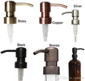Образцы для дозатора мыла 28/400. Черная медь, латунь, бронза, серебро, нержавеющая сталь, нержавеющая сталь.