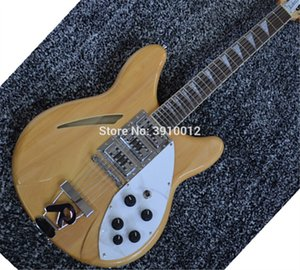 Toptan ve Perakende Doğal 12 Strings Yarı hollow 325 330 Rick Elektro Gitar 3 Manyetikler
