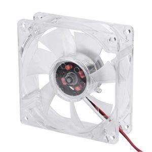 VBESTLIFE 8025 LED Licht Lüfter 80mm 8cm 12V 4Pin Mute PC Gehäuse Lüfter Computer Kühler