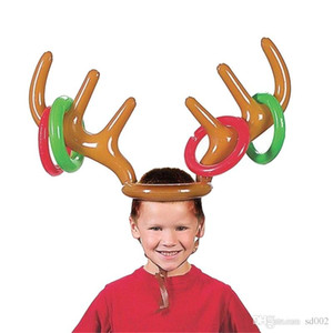 Cartoon Inflation Cap Renna Antler Hat For Children Natale Tema Party Decorazioni Regalo Lovely Shape Oversize Copricapo Giocattolo 5 94zb ZZ