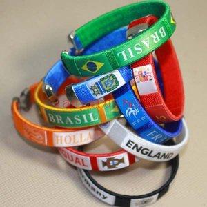 Nuovo lotto 50 pezzi per sutura a maglia Punishing Heart Wristband Bracelet Master Roshi Filato di lana Anello sportivo Cosplay Braccialetto in silicone Regalo