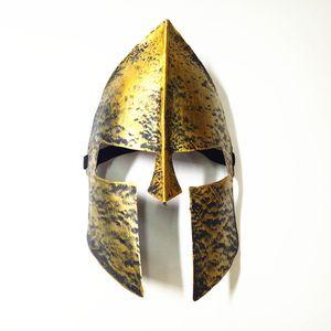 Guerreiro espartano Capacete Máscara Máscara de Halloween Máscara de Horror Cavaleiro Hero Masquerade Máscaras de Rosto Cheio Para O Dia Das Bruxas Decoração de Festa de Natal FHH7-1484