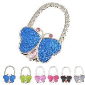 2017 Foldable Bling Holder Hanger Purse Table Purse Hook Bag Bag Hook Handbag Metal Shell Bag 8 Butterfly Folding Colors Colors Upuki
