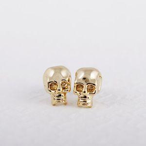 Fashion gold stud earrings SKULL romantic stud earrings zinc alloy Gold-color stud earrings for women wholesale