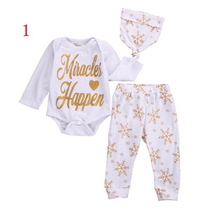 Vieeoease Baby Sets 2018 Spring Long Sleeve Romper + Floral Pants + Cap Children Outfits for Boys Girls 3 pcs cotton EE-061