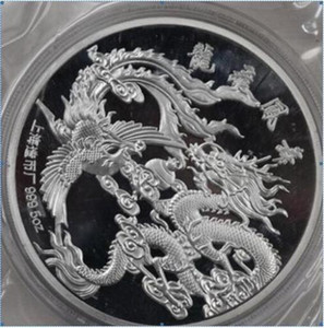 Details about 99.99% Chinese Shanghai Mint Ag 999 5oz zodiac silver Coin ~~~dragon phoneix