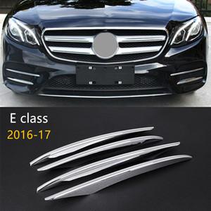 메르세데스 벤츠 뉴 E 클래스 W213 2016-17 자동차 액세서리 크롬 ABS 전면 안개 램프 프레임 장식 3D 스티커