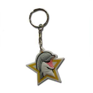 Изготовленный на заказ милый мягкий PVC Дельфин Keychain как Keychain подарков промотирования для детей