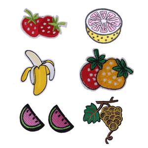 Qualità all'ingrosso frutta fragola anguria banana orange grape patch ricamate per cucire borsa fai da te abbigliamento patch di ferro su cucito acc