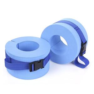 جديد وصول تقرن eps رغوة المياه التمارين الرياضية الأوزان الأصفاد المائية للكاحل الأسلحة اكسسوارات السباحة (الأزرق)
