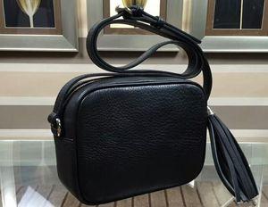 Realfine888 DHL Free 5A 308364 21см Soho Мелкая диско сумки на ремне, кожа кисточкой, Top Zip Закрытие ,, Приходите с пылесборника + Box