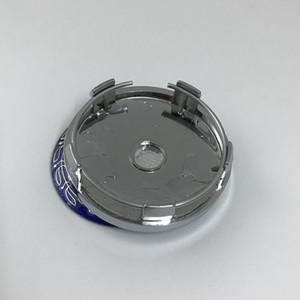 60mm base de chrome 5pin bleu moyeu de roue Centre autocollant Cap voiture Jantes emblème UN02 pour benz Rim Universal