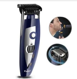 3in1 Barba profissional aparador de pêlos restolho para homens groomer barba barbeador cortador de máquina de barbear elétrico Facial guarnição 0.6-5.0mm