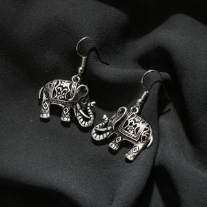 Elephant Earrings Antique Silver Plate Turkish Floral design Boho Gypsy Beachy Ethnic Tribal Festival Jewelry Bohemian