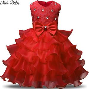 Aini Babe Fille Robe Princesse De Noël Dentelle Enfants Baptême Événements Robes De Soirée Pour Filles Enfants Bébé Vêtements Rouge