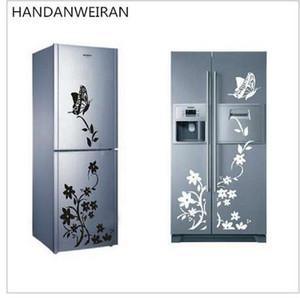Yeni sıcak Üstün kalite kelebek çiçek asma aile dekoratif duvar çıkartmaları çıkartmaları Ev Mobilya Dekor buzdolabı