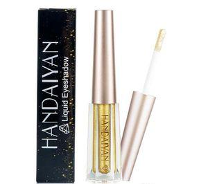 HANDAIYAN бренд алмазный блеск теней для век жидкий мерцание макияж водонепроницаемый металлический 12 цветов Highlighter Жидкие тени для век Maquiagem