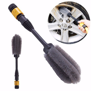 1pc High-pressure Tire Brush Car Clean Tool Rotates by Water Power Auto Car Tires Washing Accessories