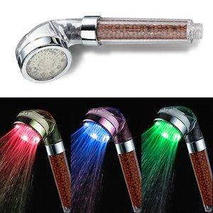 Luminous Shower Automatic Control Head Abnehmbare Anion Handbrause Luminous Shower LED Hochwertige Home Badzubehör